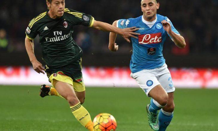 Napoli ndalet në barazim ndaj Milanit