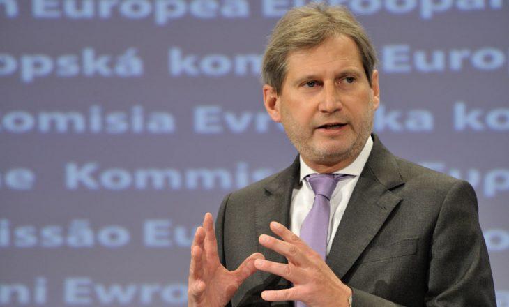 Johannes Hahn sot viziton Serbinë