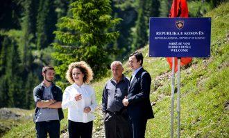 Mali i Zi heq tabelën e vendosur nga Vetëvendosje – e quan shkelje të kufirit