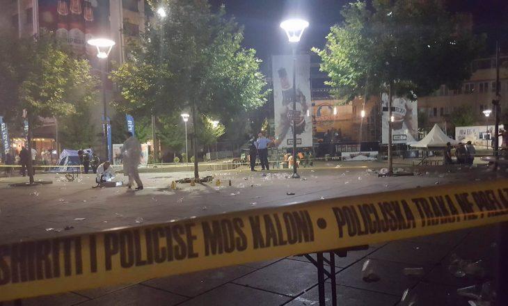 """Policia e Kosovës po kryen hetimet në sheshin """"Zahir Pajaziti"""""""