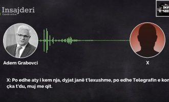 Bashkëbiseduesi i Grabovcit i kërkon falje Telegrafit