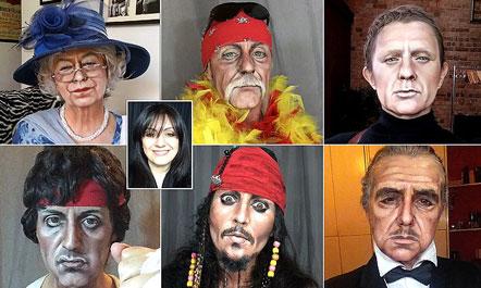 Gruaja që transformohet plotësisht me make up