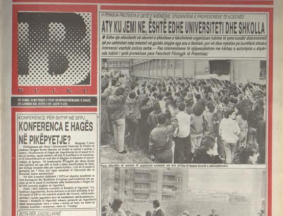 """Ballina e gazetës """"Bujku"""" për referendumin e vitit 1991"""