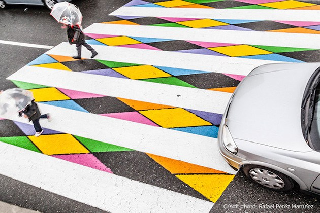 Vendkalimet shumëngjyrëshe në Madrid