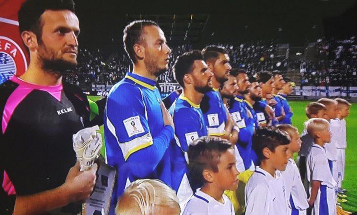 Himni i Kosovës intonohet për herë të parë në ndeshje zyrtare