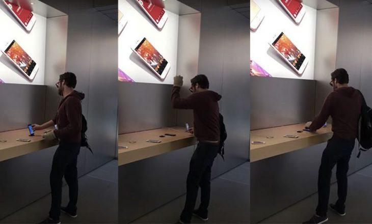 Një konsumator i Apple shkatërron 14 iPhone në një dyqan në Francë