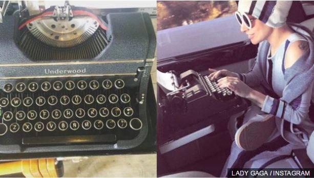 Lady Gaga këngën e re e ka shkruar në një makinë shkrimi