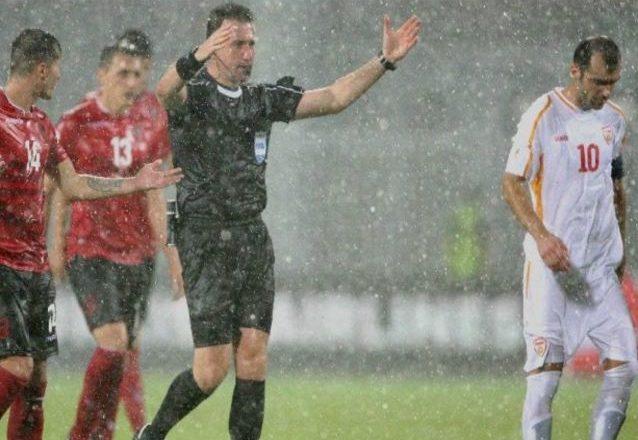 15 minutat e mbetur të ndeshjes Shqipëri-Maqedoni luhen sot