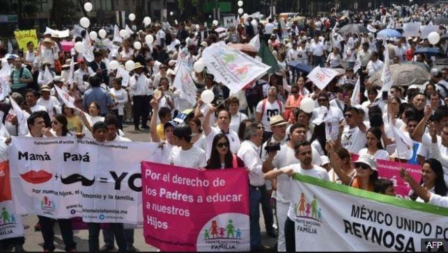 Protestë kundër homoseksualëve në Meksikë