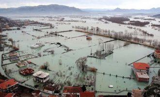 Reshjet ndezin alarmin e vërshimeve në Shkodër