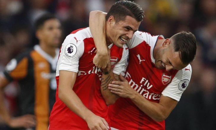 Xhaka sërish shënon nga distanca për Arsenalin [video]