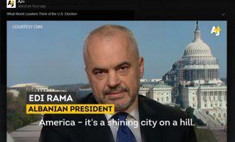 """Rama citohet si president në videon """"Çfarë mendojnë liderët botëror për zgjedhjet në SHBA"""""""