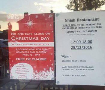 Pronari mysliman i një restoranti në Londër, ushqim falas për Krishtlindje