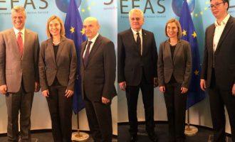 Gati për takimin e nivelit të lartë: Mogherini takon ndaras liderët serb dhe kosovar