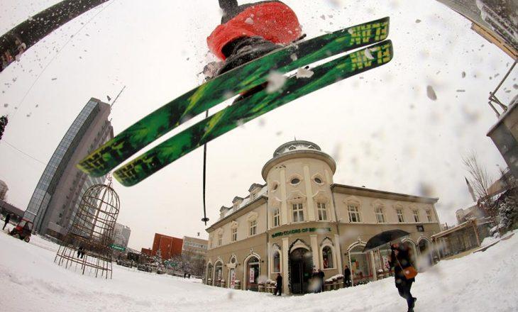 """""""Freestyle"""" me ski në Prishtinë"""