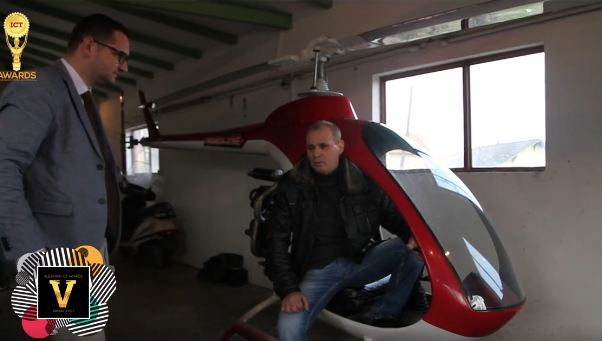 Qani Lutfiu shpalosë projektin e ndërtimit të helikopterit