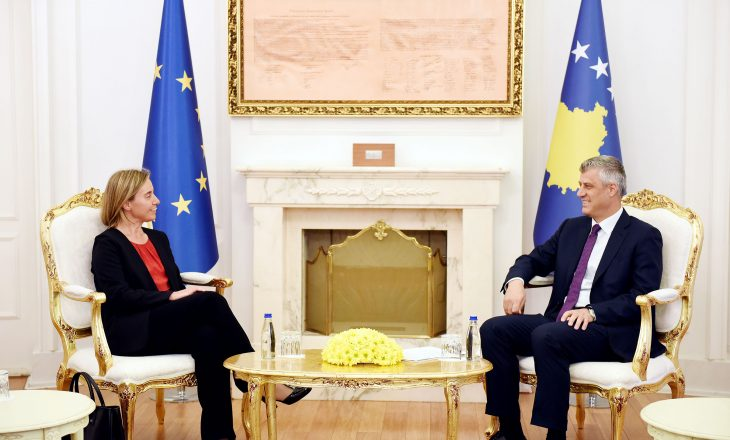 Mogherini nis takimet e shkurtëra me liderët: takon Presidentin dhe Kryeparalmentarin