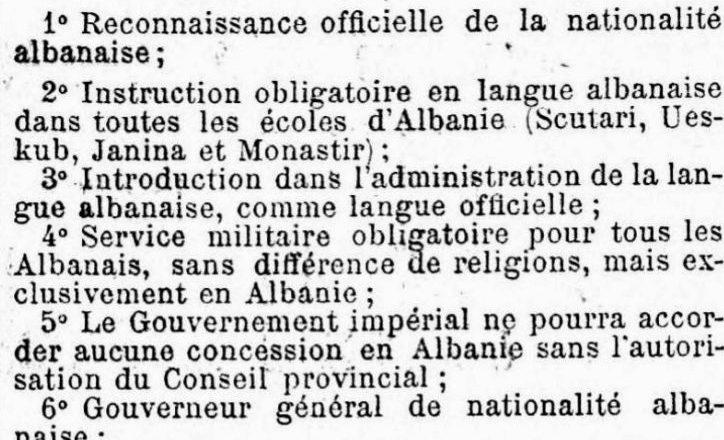 Kur Le Figaro shkruante për kërkesat e shqiptarëve ndaj Perandorisë Osmane