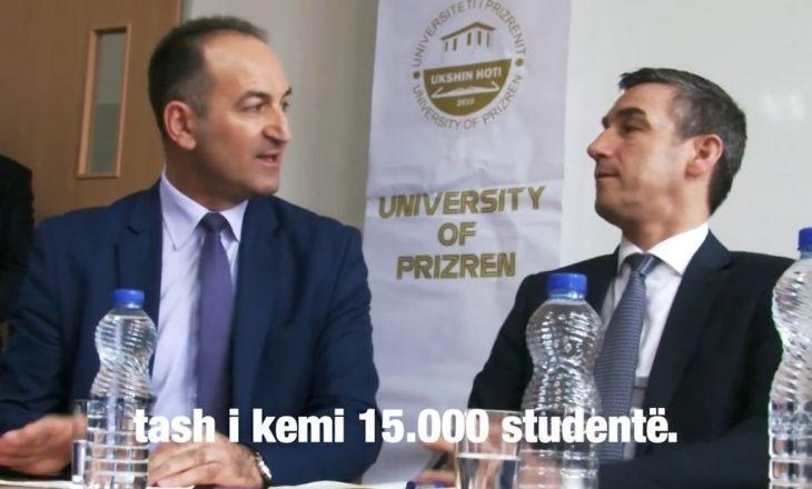 Veseli dëgjon këshilla për universitetin nga i dënuari për punësime të paligjshme