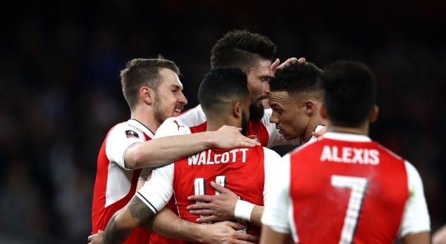 Arsenali fiton bindshëm dhe kalon në gjysmëfinale të Kupës FA