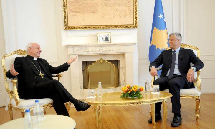 Presidenti Thaçi takoi arqipeshkvin e Selisë së Shenjtë Vinzenzo Paglia