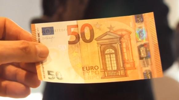 Banknota e re prej 50 euro vjen në prill