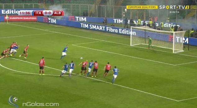 Ndryshohet rezultati në ndeshjen Itali-Shqipëri [video]
