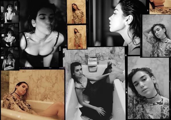 Dua Lipa në fotosesionin e Magazinës Interview