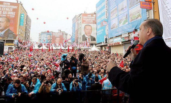 Erdogan: Evropianë, ju jeni fashistë që shkruani thirrje raciste në xhami