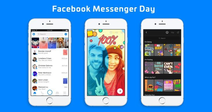 Messenger Day tashmë në të gjithë botën