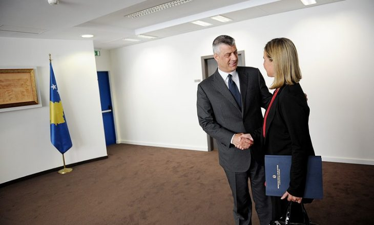 RTK: Thaçi e priti Mogherinin duke e pyetur për motin në Ballkan