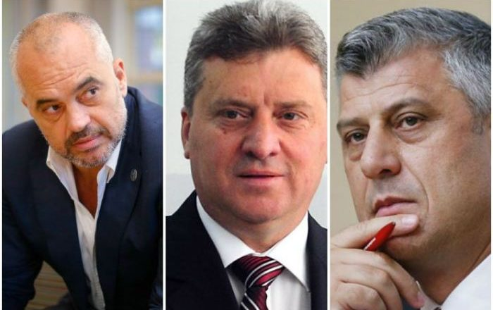 Rama dhe Thaçi bashkohen kundër presidentit të Maqedonisë