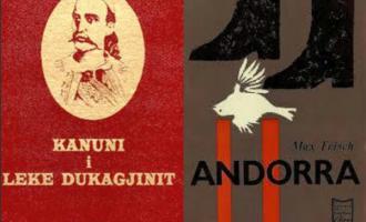 """""""Kanuni i Lekë Dukagjinit"""" gjermanisht dhe """"Andorra"""" e Max Frisch-it shqip"""
