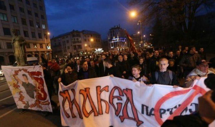 Mijëra qytetarë në protestat anti-shqiptare në Maqedoni