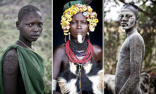 Jeta primitive e fisit Suri në Etiopi