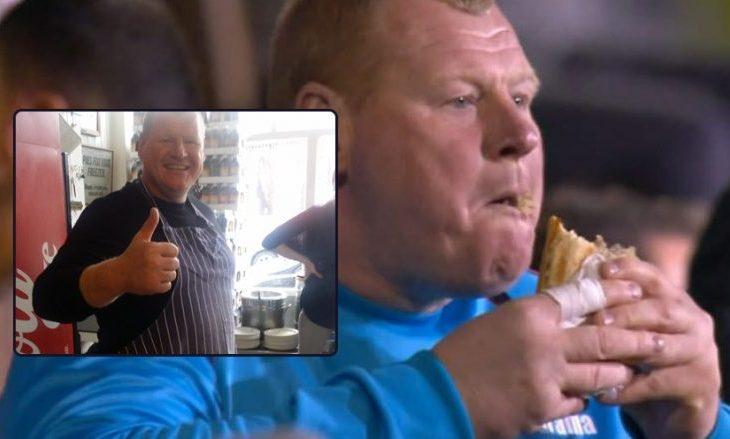 Portieri me mbipeshë i Suttonit pas largimit nga futbolli, shërben pite [foto]