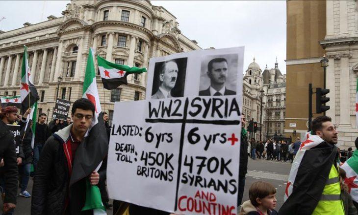 Marsh solidarizues për Sirinë në Londër