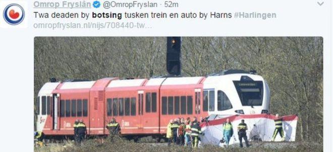 Dy të vdekur pas përplasjes së makinës me trenin në Holandë