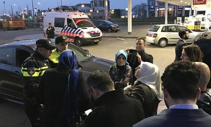 Policia holandeze ndalon automjetin e ministres turke