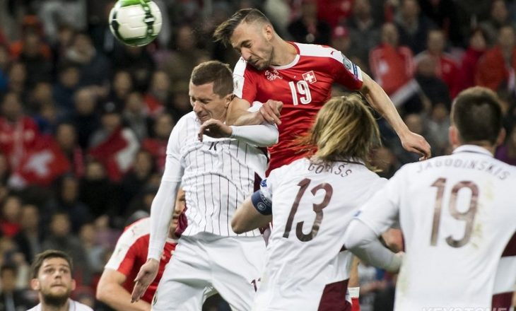 Mehmedi asiston në fitorën e Zvicrës ndaj Letonisë