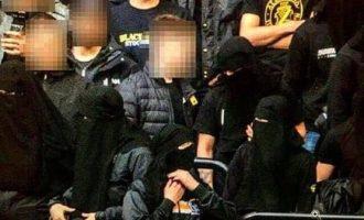 Tifozët suedez veshin ferexhe si përgjigje kundër ndalimit të maskave në stadium