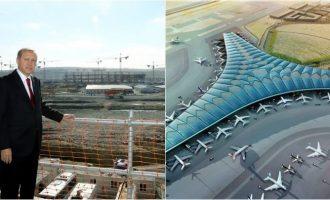 """""""Limak"""" fitoi tenderin për ndërtimin e aeroportit në Kuvajt, Erdogan e përuron"""