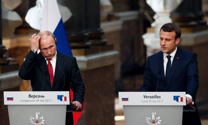 Presidenti i Francës ia përmend Putinit propagandën ruse