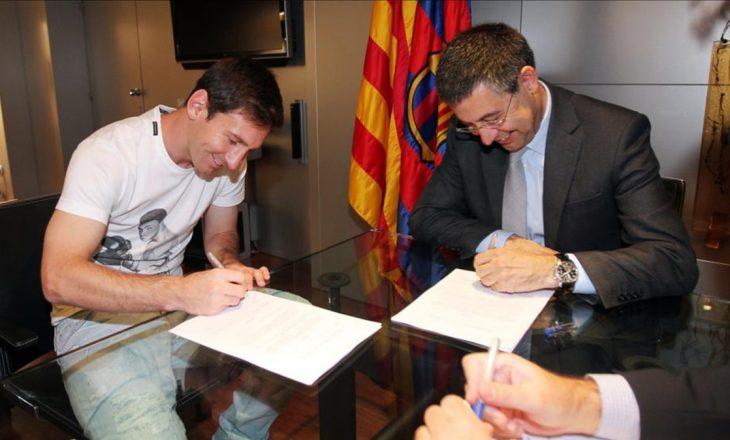 Messi, 50 milionë euro bonus nëse rinovon me Barcelonën