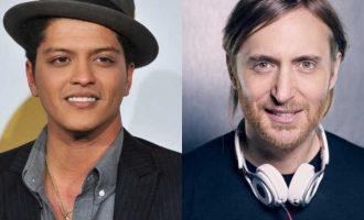 Bruno Mars bashkon forcat me David Guetta (VIDEO)