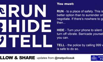 Vrapo, Fshehu, Trego – Urdhri i Policisë për qytetarët në Londër