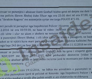Dëshmitë për përfshirjen e policit në korrupsion
