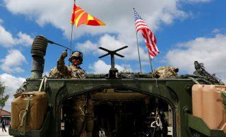 """""""E majta"""" kundër ushtrisë amerikane në Shkup – arrestohen katër persona"""
