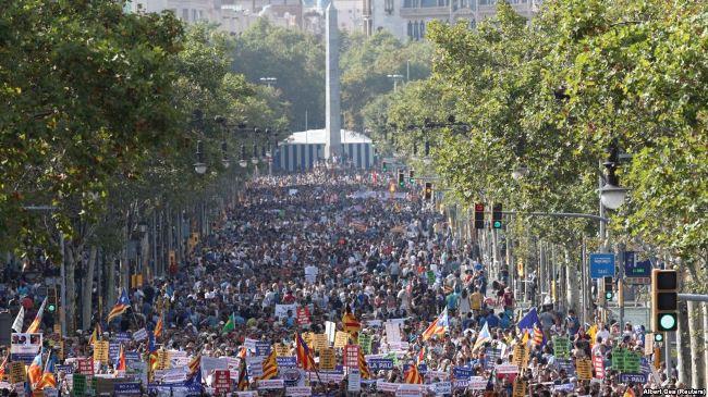 Marshim masiv kundër terrorizmit në Barcelonë