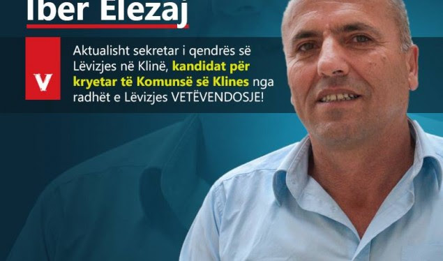 VV zyrtarizon kandidatin për kryetar të Klinës